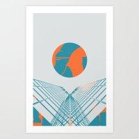 Cybersunset Art Print