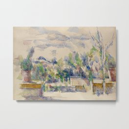 The Terrace at the Garden at Les Lauves Metal Print