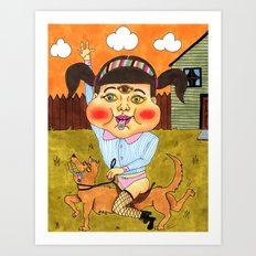 Doggy Ride Art Print