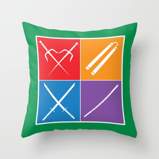 The Weapons Throw Pillow