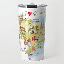 Brasil Map Travel Mug
