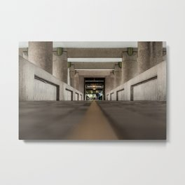 Follow the yellow path, the Barbican, London Metal Print