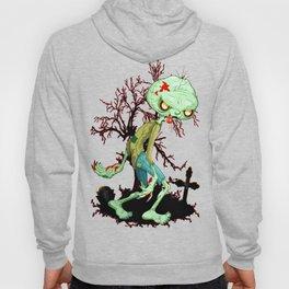 Zombie Creepy Monster Cartoon on Cemetery Hoody