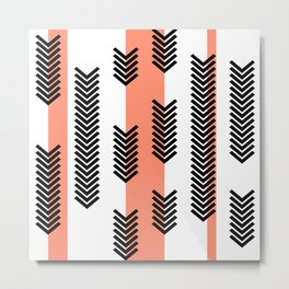 Arrows and stripes Metal Print