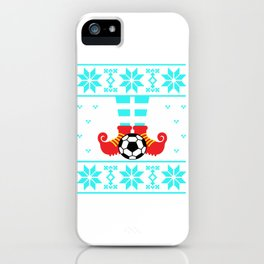 Elf christmas sweater soccer iPhone Case