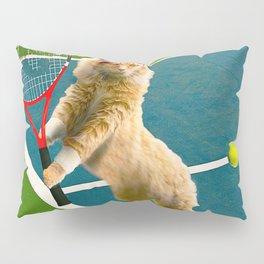 Maine Coon Cat Playing Tennis Pillow Sham