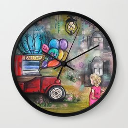 Dreaming of Balloons and Colors Wall Clock