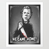 "michael myers Art Prints featuring Michael Myers from ""Halloween"" (1978) by Andysocial Industries"