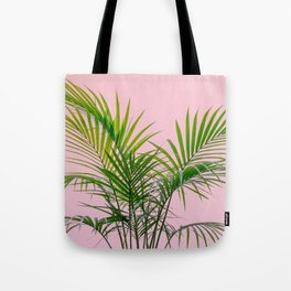 Little palm tree in pink Tote Bag