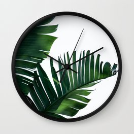 Palm Leaves 16 Wall Clock
