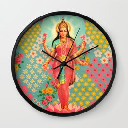 Vintage Lakshmi Wall Clock