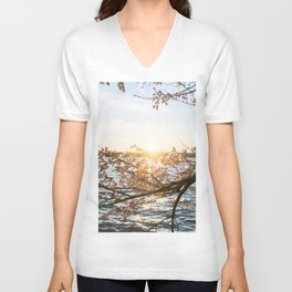 Sun Over the Horizon Unisex V-Neck