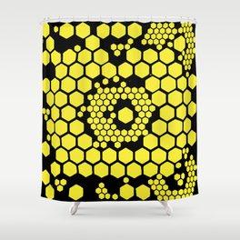 Yellow Honeycombs Shower Curtain