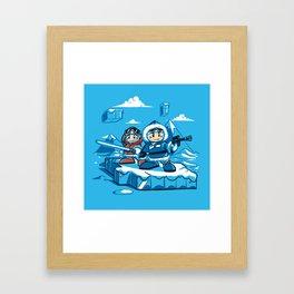 Hoth Climbers Framed Art Print