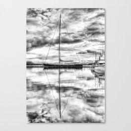 Silver Sailboat Canvas Print