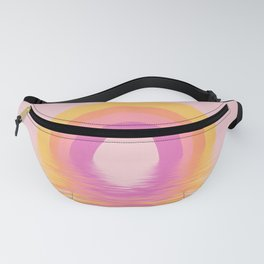 Bright Colors Boho Water Rainbow On Pink Fanny Pack