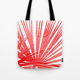 Tropical Flashy Fan Palm Leaves Abstract Design Tote Bag