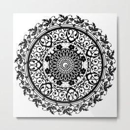 Mandala Flowers Metal Print