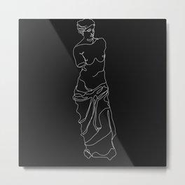 Venus de Milo minimalist lines Metal Print