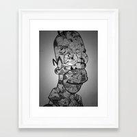 homer Framed Art Prints featuring Homer by Drew Kochell