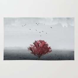 the RED tree ll Rug