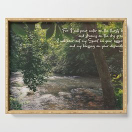 Isaiah 44 3 II #bibleverse #scripture Serving Tray