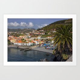 Camara de Lobos Madeira Art Print