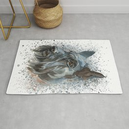 Watercolor Scottish Terrier  Rug