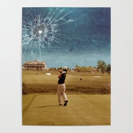 Broken Glass Sky Poster