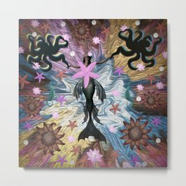 Harmony, Dancing with Octopus Metal Print