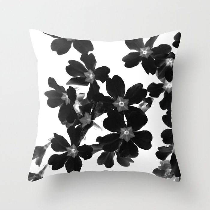 Primrose In BW Throw Pillow