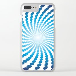 Abstract Circle Spiral Tunnel Clear iPhone Case