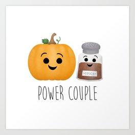 Pumpkin + Spice = Power Couple Art Print