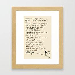 poem from a street poet Framed Art Print