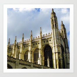 King's College at Cambridge Art Print