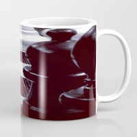chess Mugs featuring Chess Perspective by Thick Paint Works