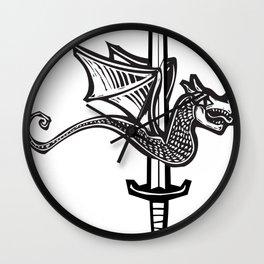 Dragon Sword Wall Clock