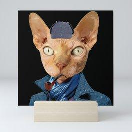 Cat Sherlock Holmes Mini Art Print