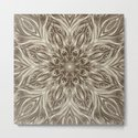 off white sepia swirl mandala by swirls