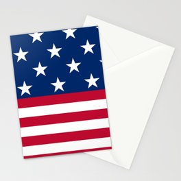 US Flag Stationery Cards