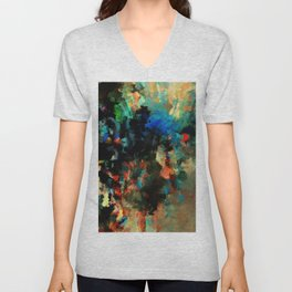 Colorful Landscape Abstract Painting Unisex V-Neck