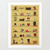 babina Art Prints featuring archimusic city  by federico babina