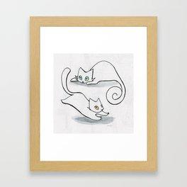 Inktober cat Framed Art Print
