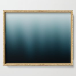 Ombre black Teal Green Gradient Serving Tray