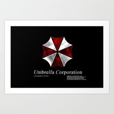 Resident Evil Umbrella Corporation Art Print