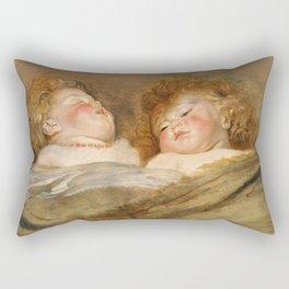 Peter Paul Rubens - Two Sleeping Children. Rectangular Pillow