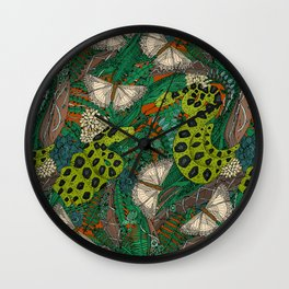 entangled forest rust Wall Clock