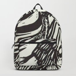 Women with Sandhill Cranes- Woodcut Backpack