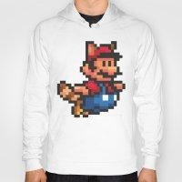 mario bros Hoodies featuring Pixelated Super Mario Bros - Mario by Katadd
