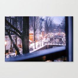 AMSTERDAM / Winter Morning Canvas Print